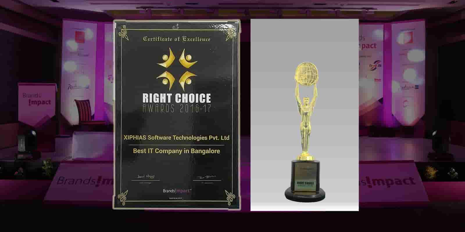 Right Choice Awards for Best IT Company in Bangalore