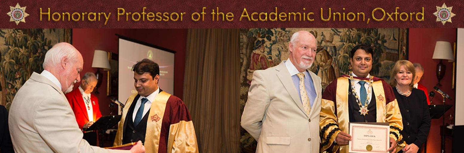 Honorary Professor of the Acadamic Union,Oxford,UK